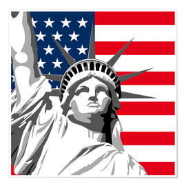 Premiumposter statue of liberty