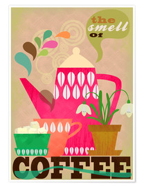 Premium poster  The smell of coffee - Elisandra Sevenstar