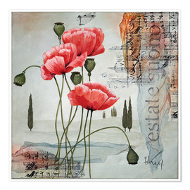 Premiumposter  Poppies - Franz Heigl