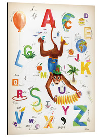 Aluminiumtavla  ABC Alphabet animals, colours and more - Heike Udes