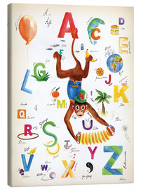 Canvastavla  ABC Alphabet animals, colours and more - Heike Udes