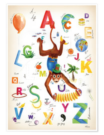 Premiumposter ABC Alphabet animals, colours and more