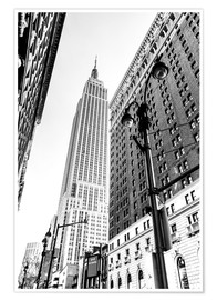 Premiumposter New York City - Empire State Building (monochrome)