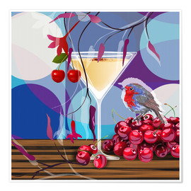 Premiumposter Vintage Birdy Cocktail IV