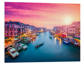 PVC-tavla  Venice sunset - Jan Christopher Becke