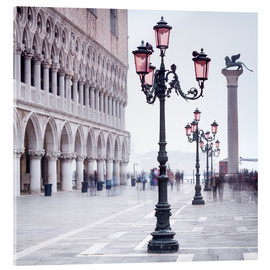 Akrylglastavla  St. Mark's Square in Venice in Winter - Jan Christopher Becke