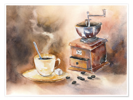 Premiumposter  The smell of coffee - Jitka Krause