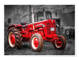 Premiumposter  McCormick tractor Oldtimer - Peter Roder