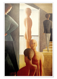 Poster  Five men in the room - Oskar Schlemmer
