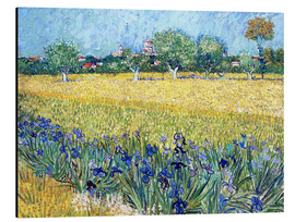 Aluminiumtavla  View of Arles with Irises in the Foreground - Vincent van Gogh