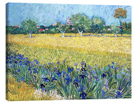 Canvastavla  View of Arles with irises in the foreground - Vincent van Gogh