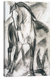 Canvastavla  Young Horse in Mountain Landscape - Franz Marc
