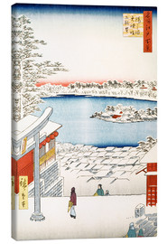 Canvastavla  View from the hill of the shrine Yushima Tenjin - Utagawa Hiroshige