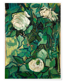 Premiumposter  Roses and Beetle - Vincent van Gogh
