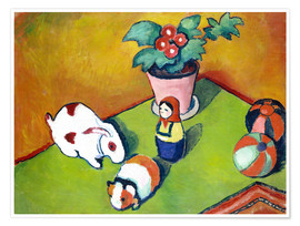 Poster  Walterchens toys - August Macke