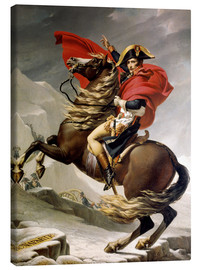 Canvastavla  Napoleon crossing the Alps - Jacques-Louis David
