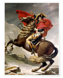 Premiumposter  Napoleon crossing the Alps - Jacques-Louis David