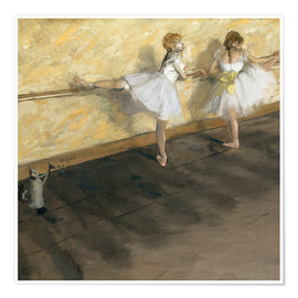 Premiumposter  Dancers at the ballet bar - Edgar Degas