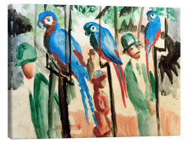 Canvastavla  Among the parrots - August Macke