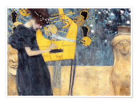 Premiumposter  The Music - Gustav Klimt