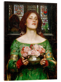 Akrylglastavla  Gather Rosebuds While May - John William Waterhouse