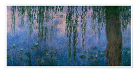 Premiumposter Lily pond with Weeping Willow
