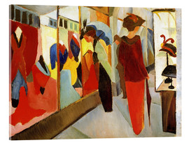Akrylglastavla  Fashion Store - August Macke