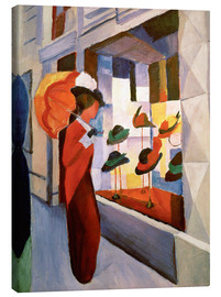 Canvastavla  The Hat Shop - August Macke