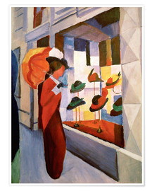 Premiumposter  The Hat Shop - August Macke