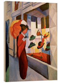 Trätavla  The Hat Shop - August Macke