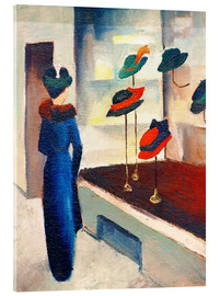 Akrylglastavla  Hat Shop - August Macke