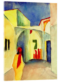 Akrylglastavla  A Glance down an Alley in Tunis - August Macke