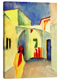 Canvastavla  A Glance down an Alley in Tunis - August Macke