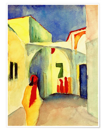 Premiumposter  A Glance down an Alley in Tunis - August Macke