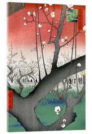 Akrylglastavla  The Plum Tree Teahouse at Kameido - Utagawa Hiroshige