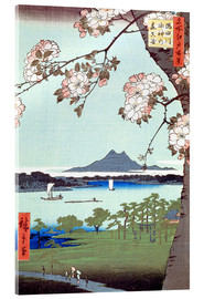 Akrylglastavla  Masaki and the Suijin Grove by the Sumida River - Utagawa Hiroshige