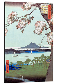 Aluminiumtavla  Masaki and the Suijin Grove by the Sumida River - Utagawa Hiroshige
