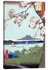 Canvastavla  Masaki and the Suijin Grove by the Sumida River - Utagawa Hiroshige