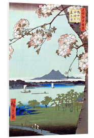 PVC-tavla  Masaki and the Suijin Grove by the Sumida River - Utagawa Hiroshige