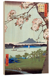 Trätavla  Masaki and the Suijin Grove by the Sumida River - Utagawa Hiroshige