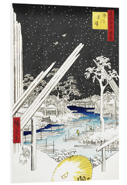 PVC-tavla  The Carpenters' Quarter in Fukagawa - Utagawa Hiroshige