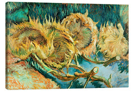 Canvastavla  Four Cut Sunflowers - Vincent van Gogh