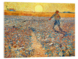 Akrylglastavla  Sower at Sunset - Vincent van Gogh