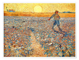Premiumposter Sower at Sunset