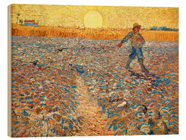 Trätavla  Sower at Sunset - Vincent van Gogh
