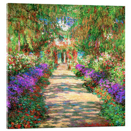 Akrylglastavla  A pathway in Monet's Garden at Giverny - Claude Monet
