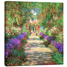 Canvastavla  A pathway in Monet's Garden at Giverny - Claude Monet