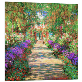 PVC-tavla  A pathway in Monet's Garden at Giverny - Claude Monet