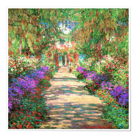 Poster  A pathway in Monet's Garden at Giverny - Claude Monet