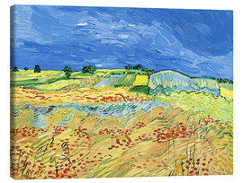 Canvastavla  Fields with Blooming Poppies - Vincent van Gogh